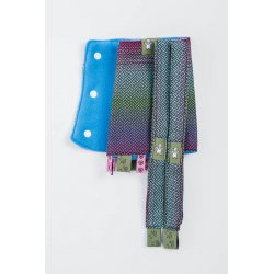 LennyLamb Drool Pads and Reach Straps Set Little Herringbone Impression Dark