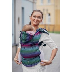 LennyLamb ergonomic carrier Little Herringbone Impression Dark