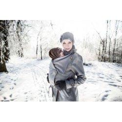 Angel Wings Kabát - vlna - šedý