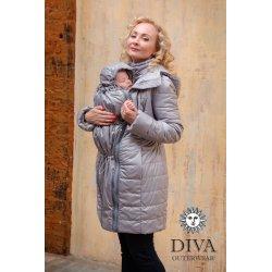 Diva Milano babywearing winter coat 4 in 1 Pietra
