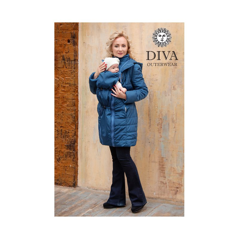 b5be5efdd6cc Diva Milano babywearing winter coat 4 in 1 Azzurro - ŠátkoMánie.cz