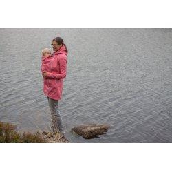 LoktuShe Nosící Softshellový kabát - lososový