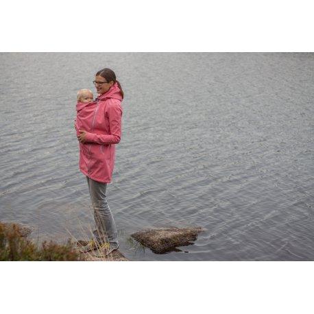 LoktuShe babywearing coat - salmon