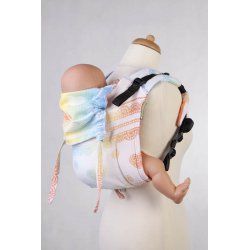 LennyLamb Onbuhimo back carrier - Rainbow Lace Reverse