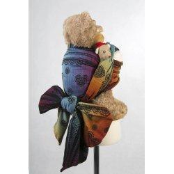 LennyLamb dětský šátek pro panenky Rainbow Lace Dark