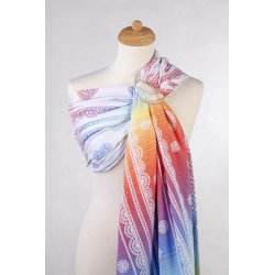 LennyLamb ring sling Rainbow Lace Reverse