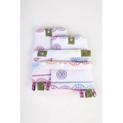 LennyLamb Drool Pads and Reach Straps Set - Rainbow Lace Reverse