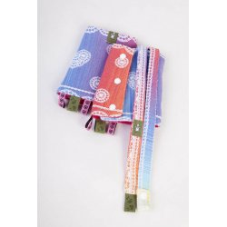 LennyLamb Drool Pads and Reach Straps Set - Rainbow Lace