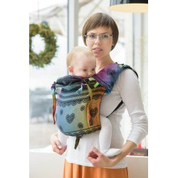 LennyLamb Onbuhimo zádové nosítko - Rainbow Lace Dark