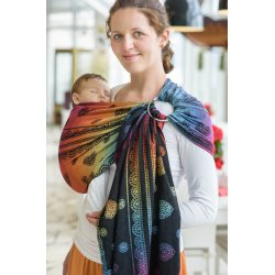 LennyLamb ring sling Rainbow Lace Dark