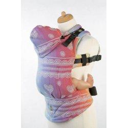 LennyLamb ergonomické nosítko Rainbow Lace Silver