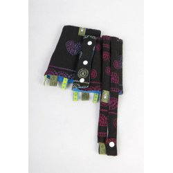 LennyLamb Drool Pads and Reach Straps Set - Rainbow Lace Dark Reverse
