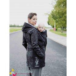 Kakadu Nosící Softshellový kabát Kvítí na černé
