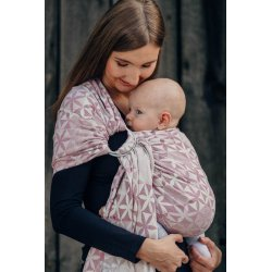 LennyLamb Luxury Ring sling Hexa Flowers Pink