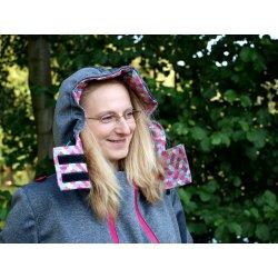 RebekaQ Nosící bunda Devecia (růžové detaily)