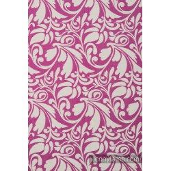 LennyLamb dětský šátek pro panenky Twisted Leaves Cream & Purple