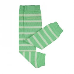 Baby leg warmers Hoppediz - green striped