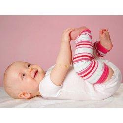 Baby leg warmers Hoppediz - white rose pink