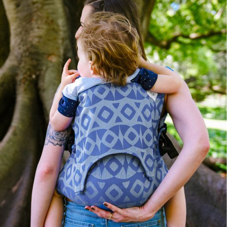 Fidella Fusion babycarrier with buckles - Night Owl - smooth blue