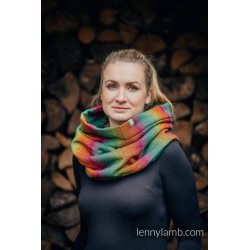LennyLamb Snood Scarf - kruhová šála Little Herringbone Imagination Dark and Dark Green