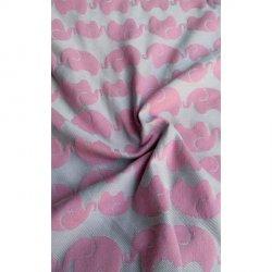 Yaro Ring Sling Elephants Silver Pink (vlna)