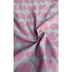 Yaro Ring Sling Elephants Silver Pink Wool