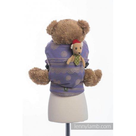 LennyLamb dětské nosítko pro panenky Plum Lace