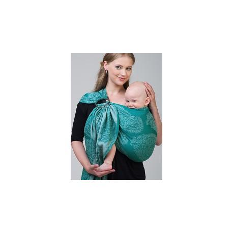 Diva Milano ring sling Essenza Smeraldo (linen)