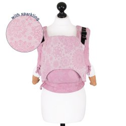 Fidella Fusion ergonomické nosítko s přezkami Iced Butterfly - Sparkling Rose