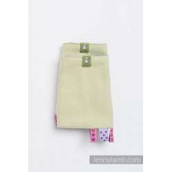 LennyLamb Drool Pads and Reach Straps Set Little Herringbone Olive Green