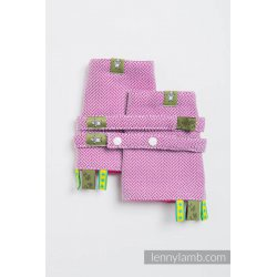 LennyLamb Drool Pads and Reach Straps Set Little Herringbone Purple