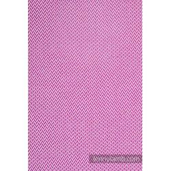 LennyLamb dětský šátek pro panenky Little Herringbone Purple