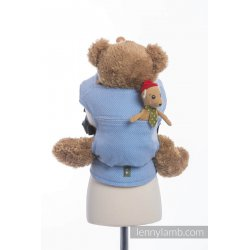LennyLamb Doll Carriers Little Herringbone Blue