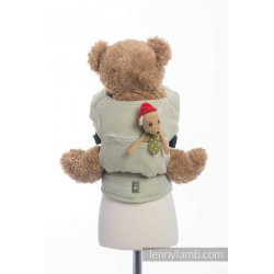 LennyLamb Doll Carriers Little Herringbone Olive Green