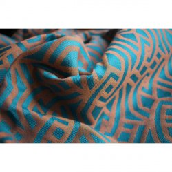Yaro Ring Sling Braid Teal Orange (vlna)