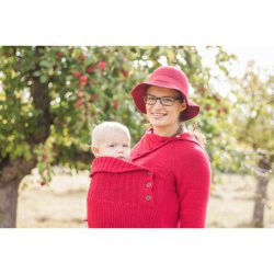 LoktuShe babywearing sweater - red