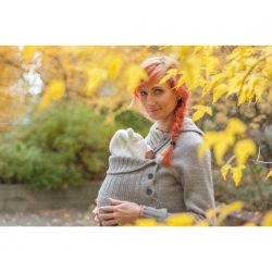 LoktuShe babywearing sweater - grey