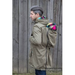 LennyLamb Parka Babywearing Coat KHAKI & DIAMOND PLAID