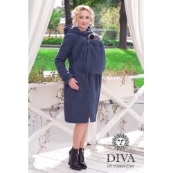 Diva Milano vlněný nosící kabát 2v1 Notte
