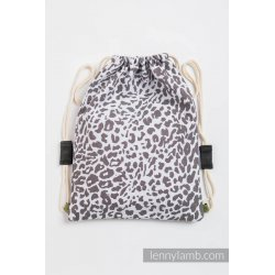 LennyLamb Bag SackPack Cheetah Dark Brown & White