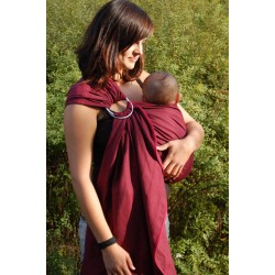 Storchenwiege ring sling Leo Bordeaux
