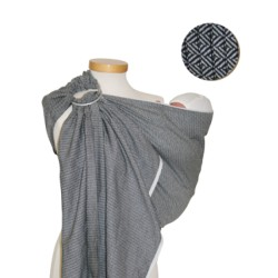 Storchenwiege ring sling Leo Black and White