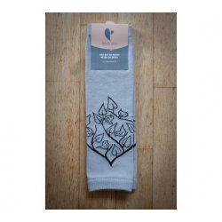 Baby leg warmers LoktuShe - light grey