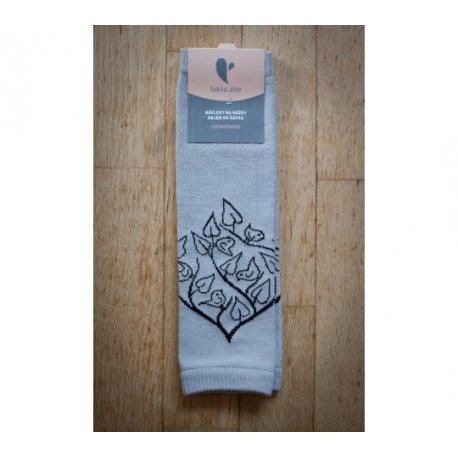 Baby leg warmers LoktuShe - light grey