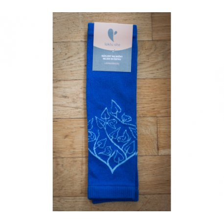 Baby leg warmers LoktuShe - royal blue