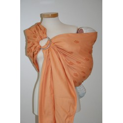 Storchenwiege ring sling Bio Louise Apricot