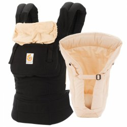 Ergobaby Set s novorozeneckou vložkou - Black Camel