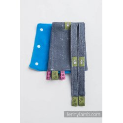 LennyLamb Drool Pads and Reach Straps Set Moonlight Wolf