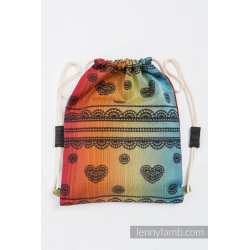 LennyLamb Bag SackPack Rainbow Lace Dark