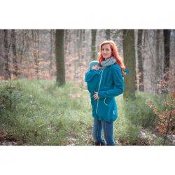 Loktu She Nosící Softshellový kabát - petrolejový